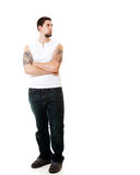 Young Man in White Royalty Free Stock Images
