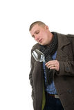 Young man with wine glass Royalty Free Stock Photography