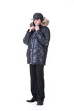 Young Man In Winter Clothing Royalty Free Stock Photography