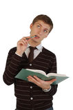 Young Man With A Book Stock Photography