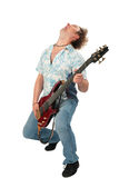 Young Man With Guitar Dancing Stock Image