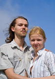 Young man and woman 1 Stock Image