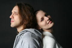 Young Man and woman Stock Photos