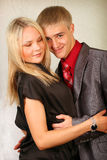 Young man and woman Stock Photos