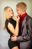 Young man and woman Royalty Free Stock Image
