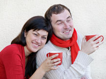 Young man and woman Stock Photo