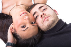 The young man and the woman Stock Photos