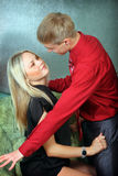 Young man and woman Stock Images