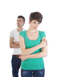 Young man and woman arguing Stock Photography
