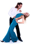 Young man and woman dancing Royalty Free Stock Photo