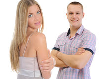 Young man and woman Royalty Free Stock Images