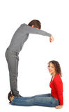 Young man and woman represents  letter g Stock Photo