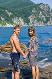 Young man and woman at sea 3 Stock Photography