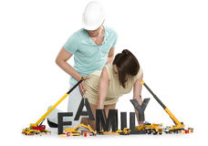 Young man and woman starting a family. Stock Images