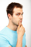 Young man wondering royalty free stock photos