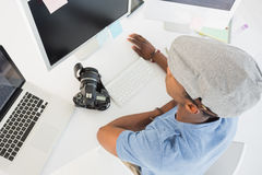Young man working on computer in office Royalty Free Stock Photography