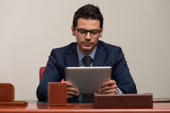 Young Man Working On Computer In Office Royalty Free Stock Photos