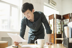Young Man Working in Creative Office Royalty Free Stock Photos