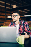 Young man working in office Royalty Free Stock Photography