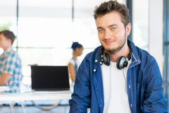 Young man working in office Stock Photo
