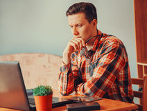 Young man working in office Royalty Free Stock Photo