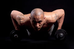 Young man working out Royalty Free Stock Photo