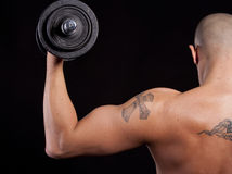Young man working out Royalty Free Stock Image