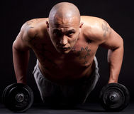 Young man working out Stock Photos