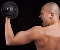 Young man working out Stock Image