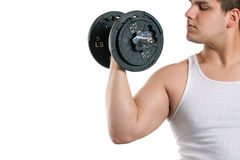 Young Man Working Out Royalty Free Stock Images