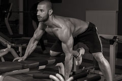 Young Man Working Out Back Royalty Free Stock Photos
