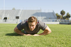 Young Man Working Out Stock Images
