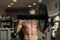 Young Man Working Out In A Health Club Royalty Free Stock Image