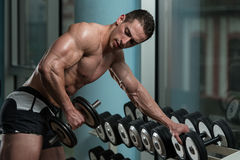 Young Man Working Out Triceps Stock Image