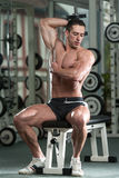 Young Man Working Out Triceps Stock Photography