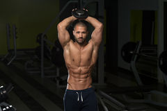 Young Man Working Out Triceps Stock Photos