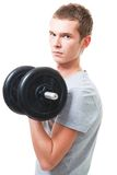 Young man workout Stock Images