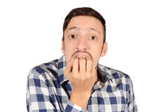 Young man worried. Royalty Free Stock Photography