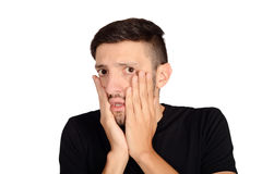 Young man worried. Stock Image