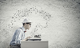Young Man Writer Stock Image