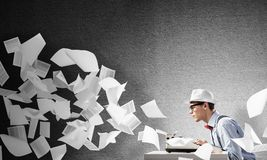 Creative inspiration of young writer. stock images
