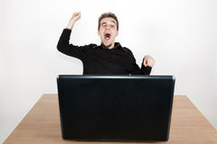 Yawn at work Royalty Free Stock Images