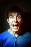 Young Man yells Royalty Free Stock Image