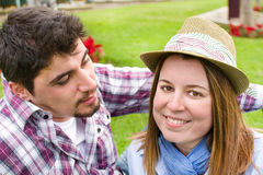 Young man and young woman Royalty Free Stock Photography