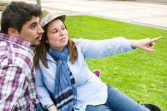 Young man and young woman Royalty Free Stock Photos