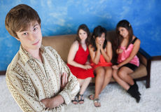 Young Man With Young Women Stock Images