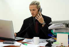 Young manager stock image