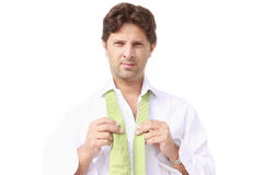 Young manager dressing Royalty Free Stock Photos