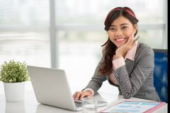 Young manager at her workplace Royalty Free Stock Images