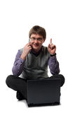 Young manager with laptop Royalty Free Stock Photo